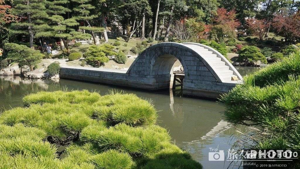 広島縮景園の橋