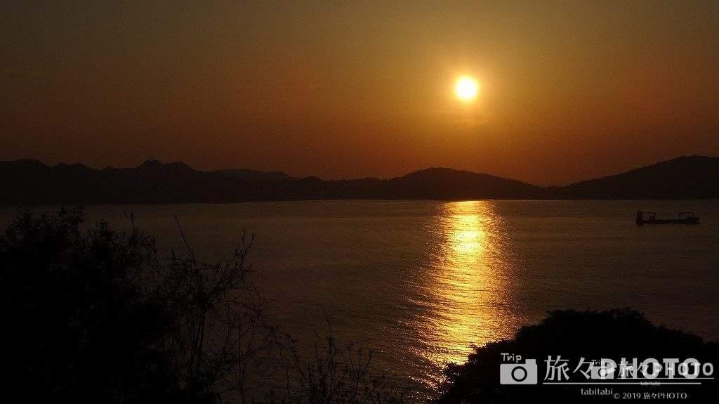 能古島からみる夕焼け