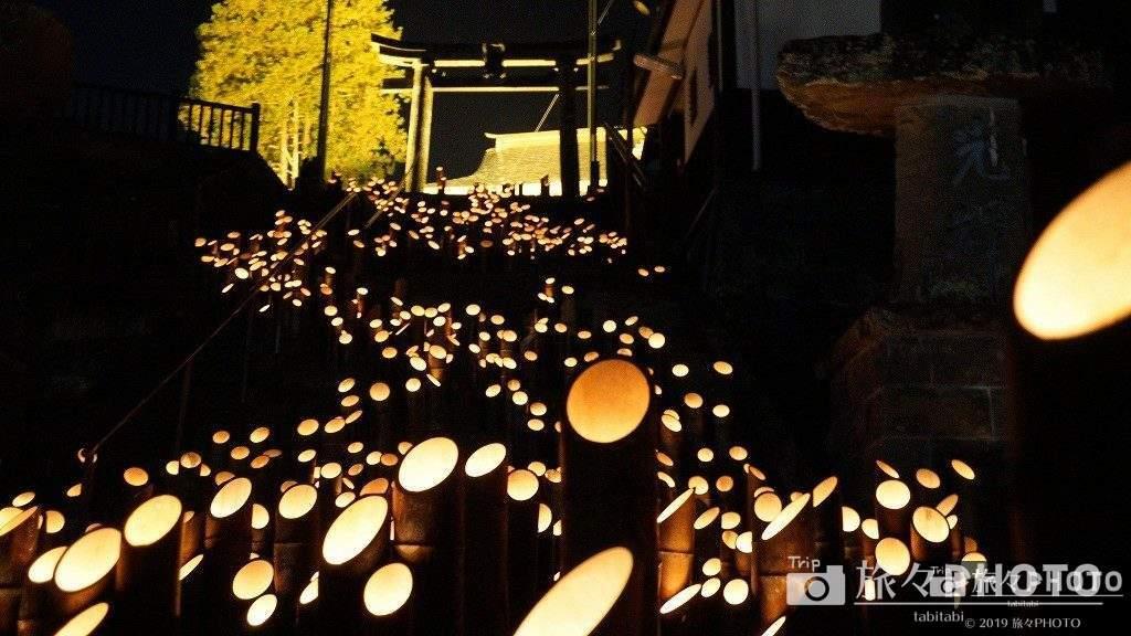 竹楽の竹灯籠