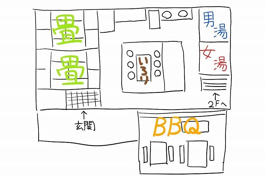 ファームビレッジ産山のパンプキンの間取り図1階