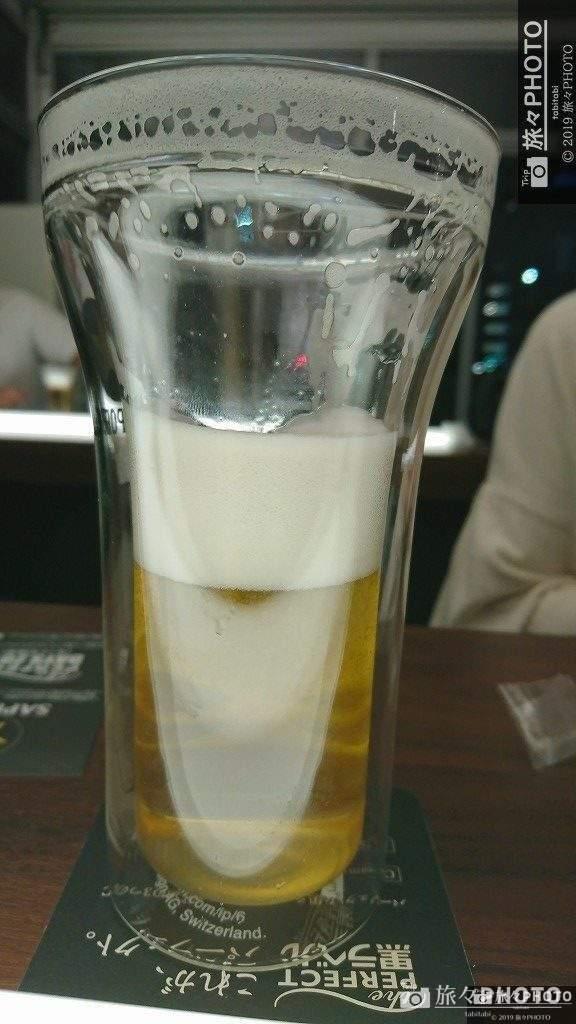 サッポロ生ビール黒ラベルパーフェクトデイズ2019 ビールの泡