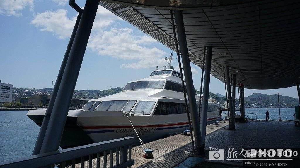 伊王島へ行く船
