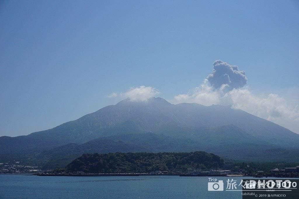 噴火した桜島