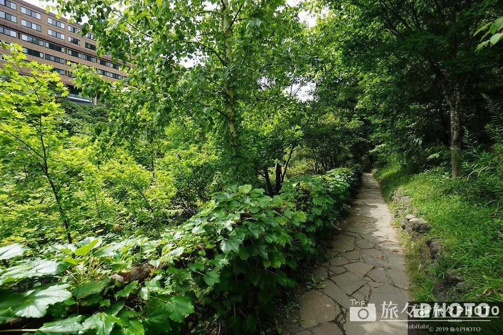 定山渓温泉 二見吊橋に行く途中