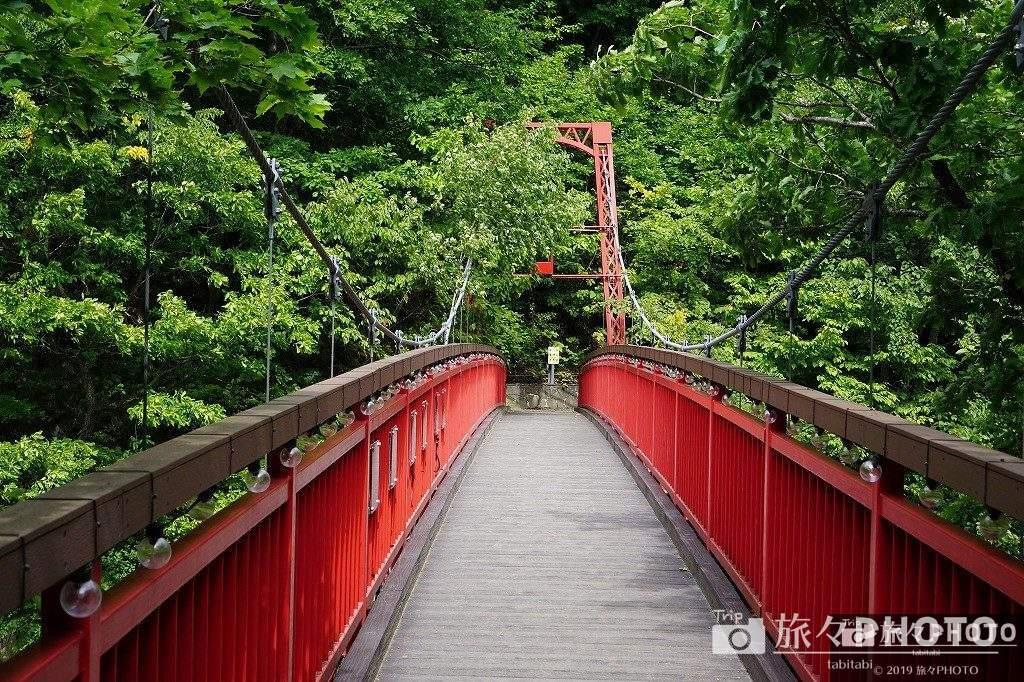 定山渓温泉 二見吊橋