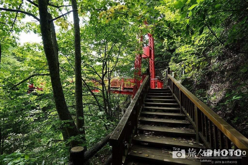 定山渓温泉 二見吊橋入口