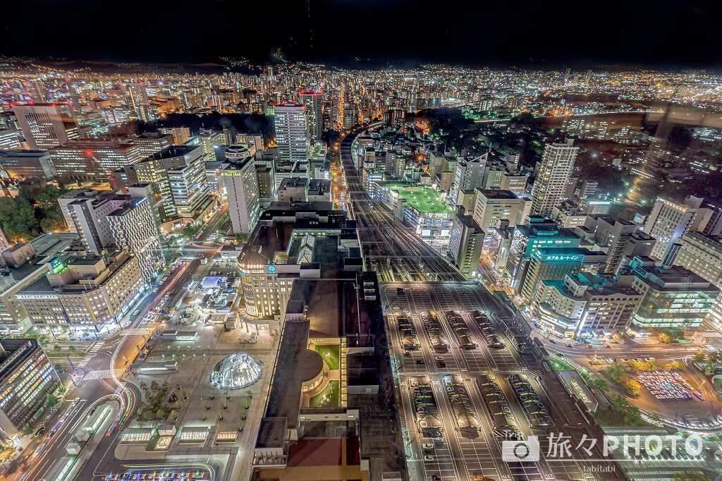 札幌駅夜景のギャラリー