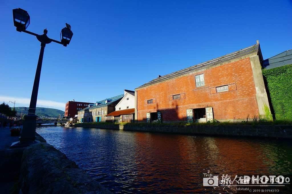遊歩道からの小樽運河