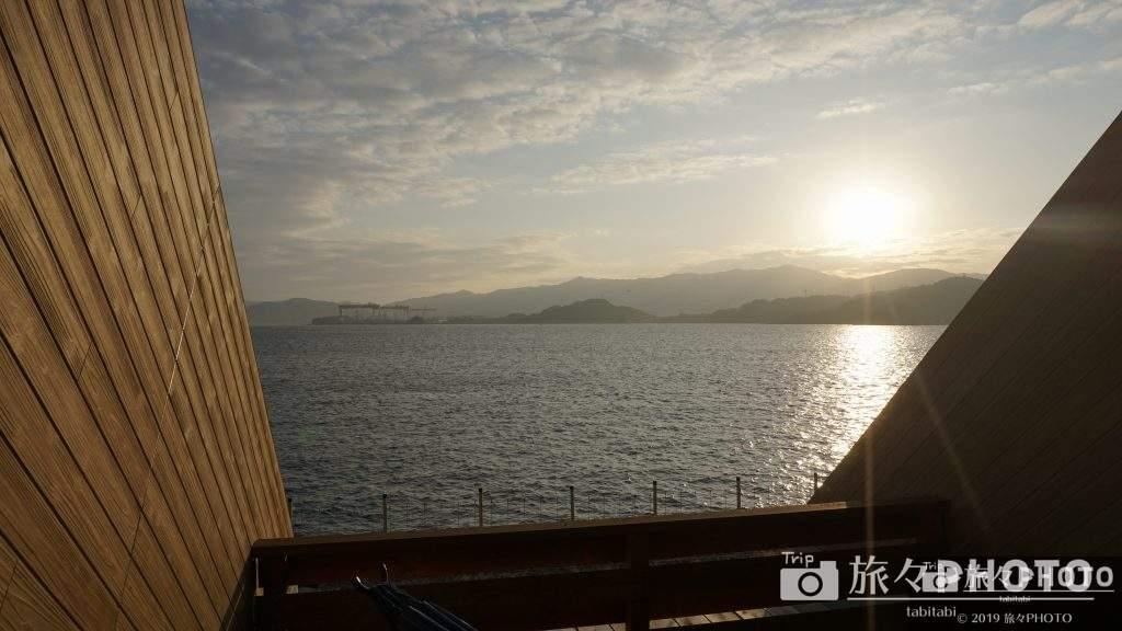 伊王島テラスロッジから見える海