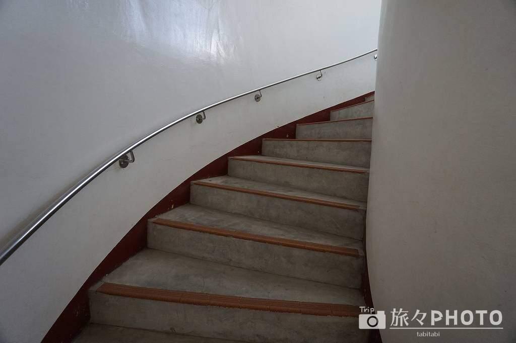 都井岬灯台内部の階段