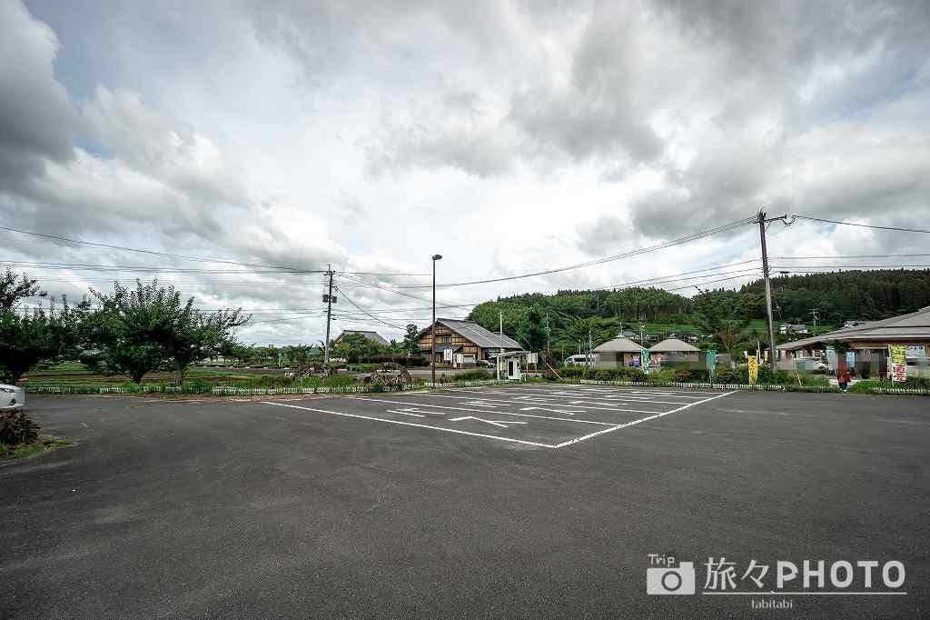 原尻の滝の駐車場