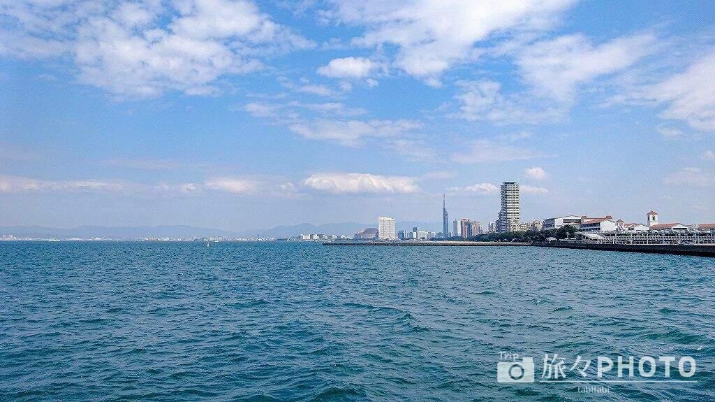 能古島フェリー海からの景色