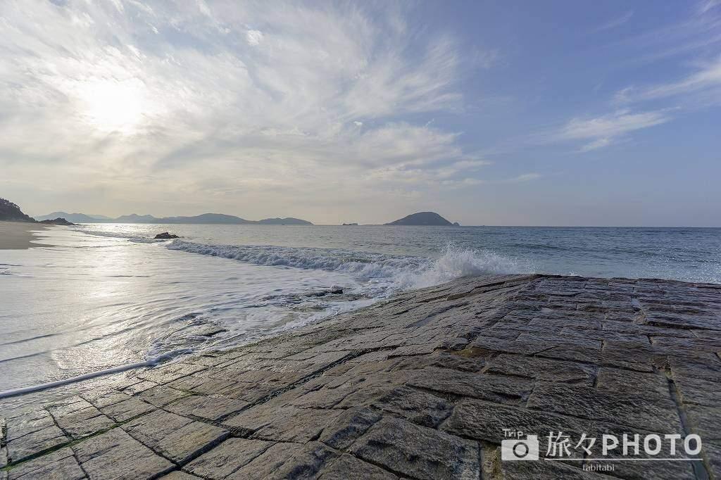 休暇村志賀島の海