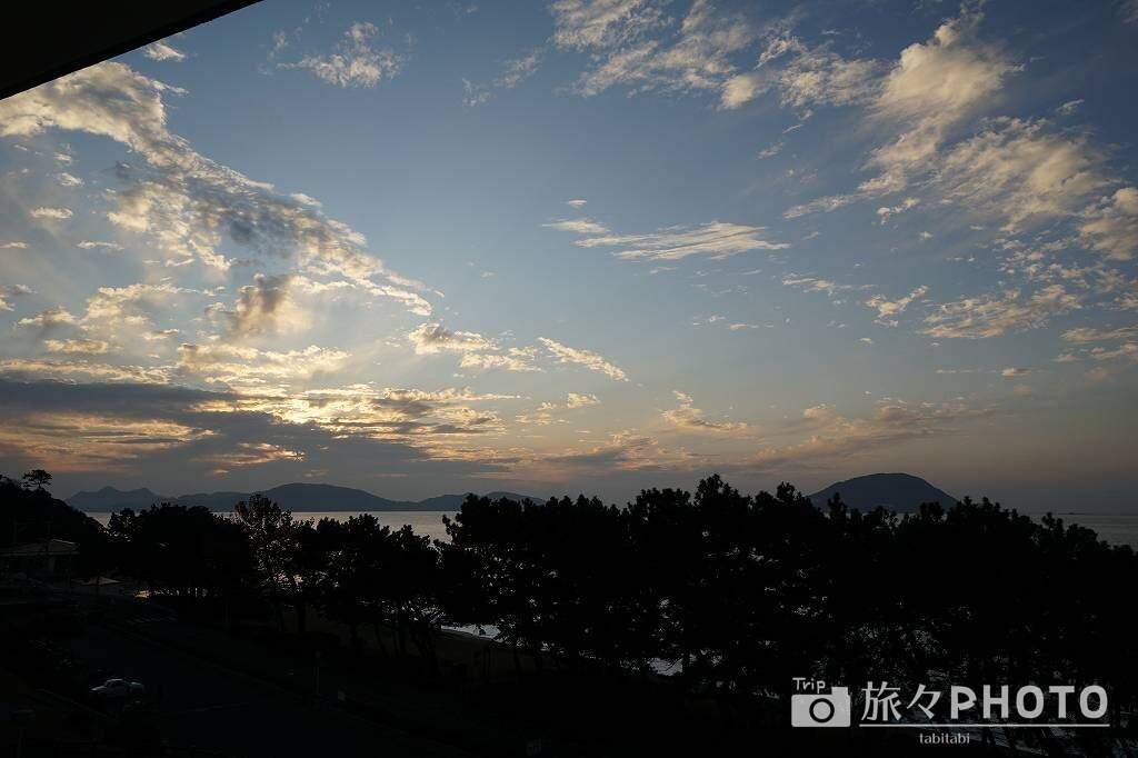 休暇村志賀島の夕焼け