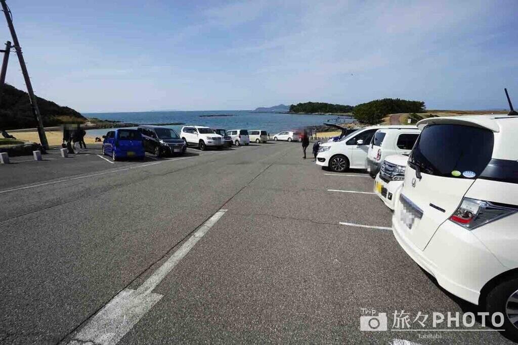 波戸岬の駐車場