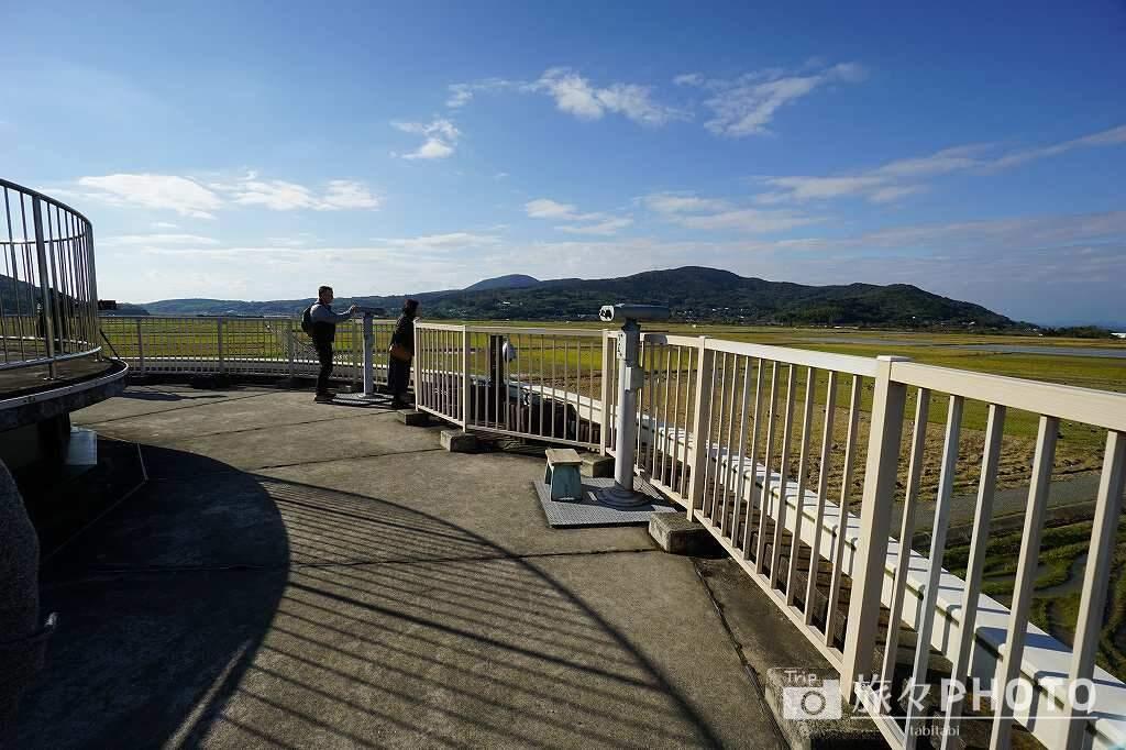出水ツル観測センター 屋上への道