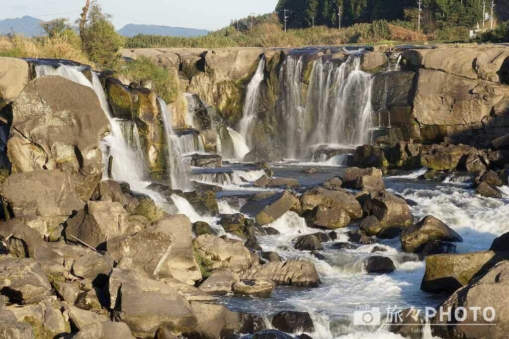 曾木の滝 真ん中に見える滝