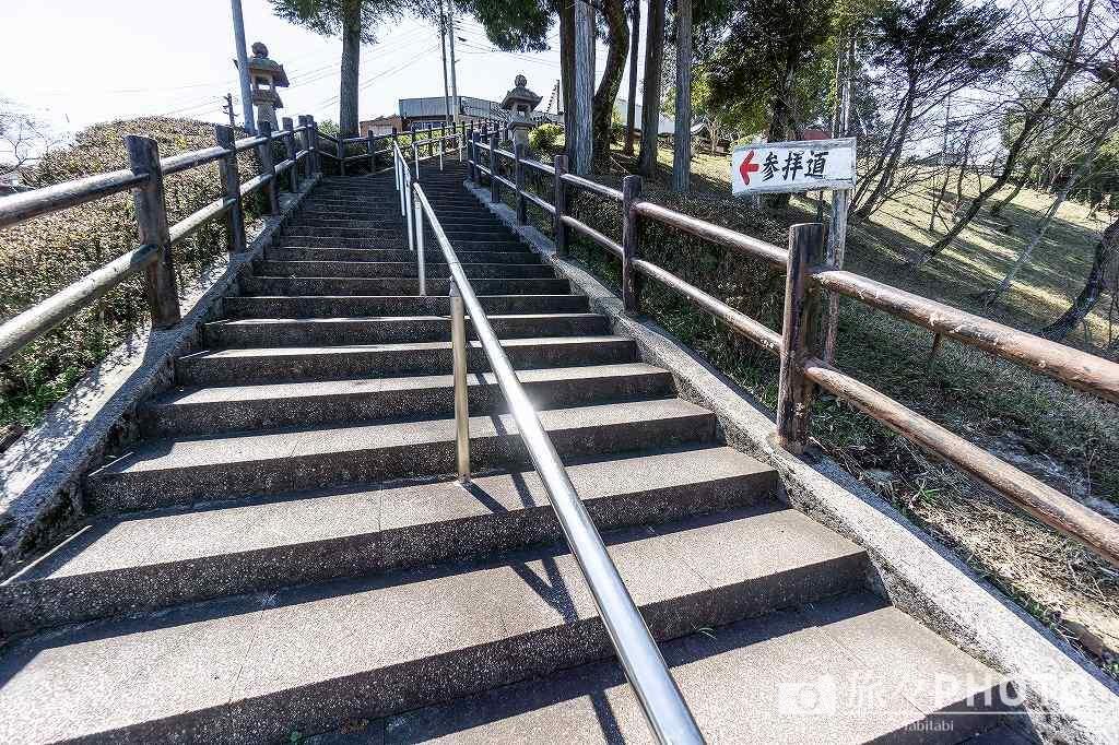 霞神社 階段