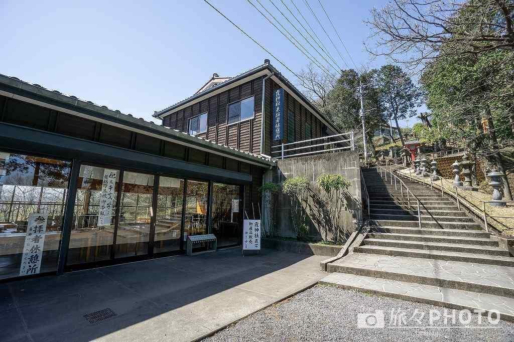 霞神社 本殿までの階段