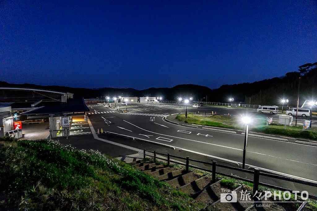 道の駅北浦街道ほうほくの駐車場