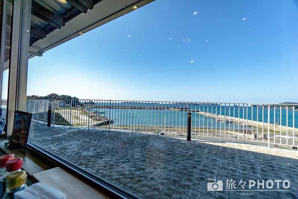 道の駅北浦街道ほうほくのわくわく亭からの眺め
