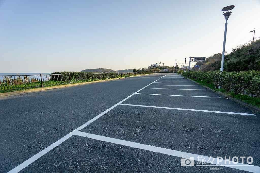 角島の駐車場