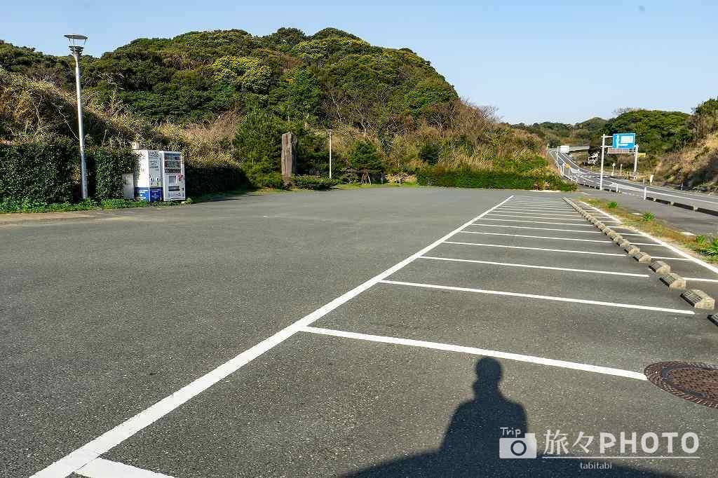 角島側の展望台の駐車場