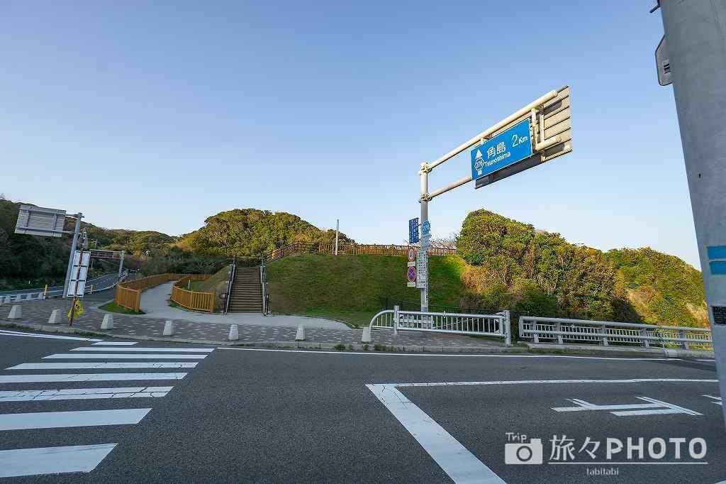 角島大橋の展望台入口