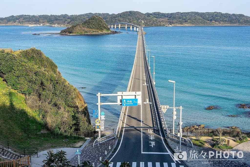 坂の上からも観た角島大橋