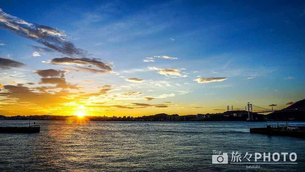 門司港の夕陽