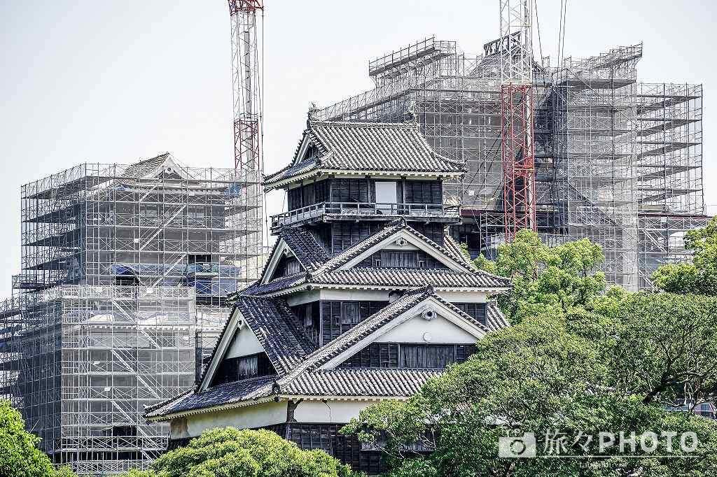 熊本城修復作業中