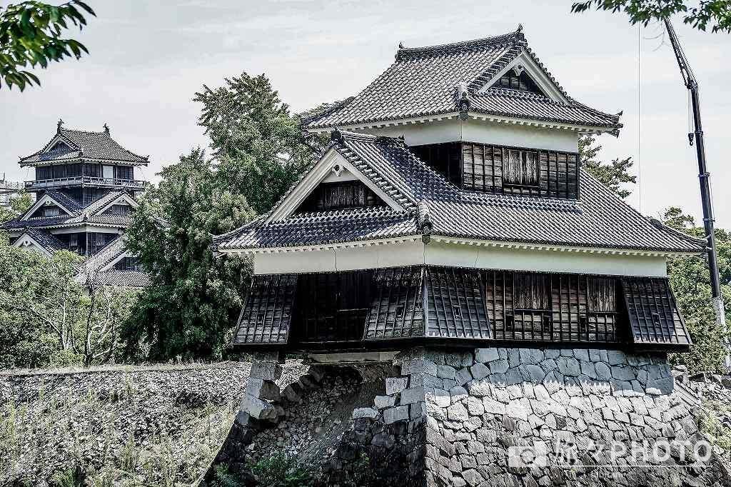 崩壊した熊本城