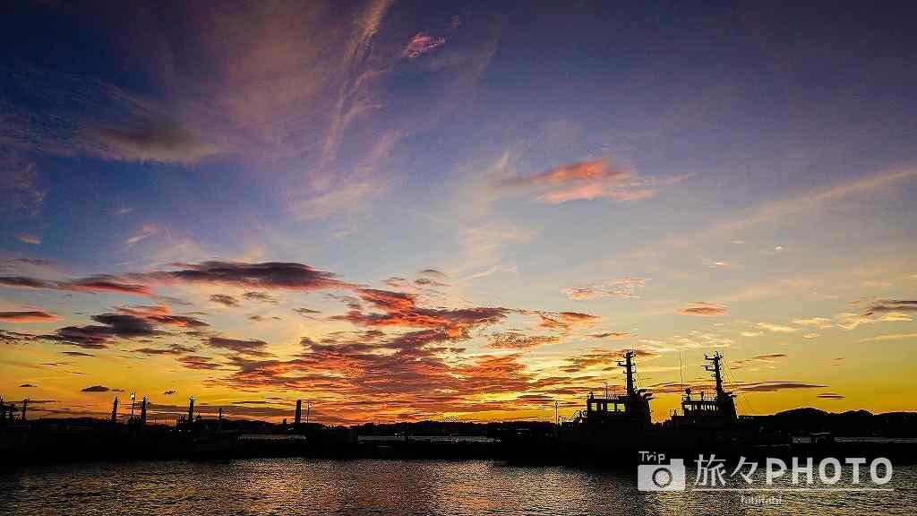 門司港の夕焼け