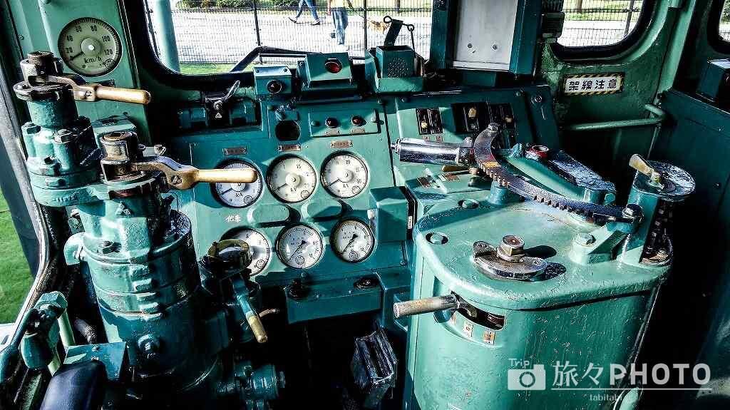【門司港レトロ】九州鉄道記念館車両展示の運転席