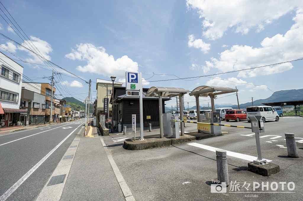 豊後森駅駐車場