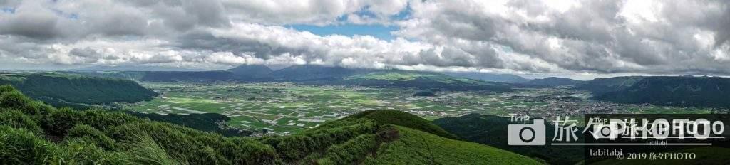 大観峰からの景色パノラマ