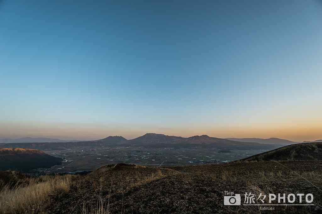 大観峰の夕焼け