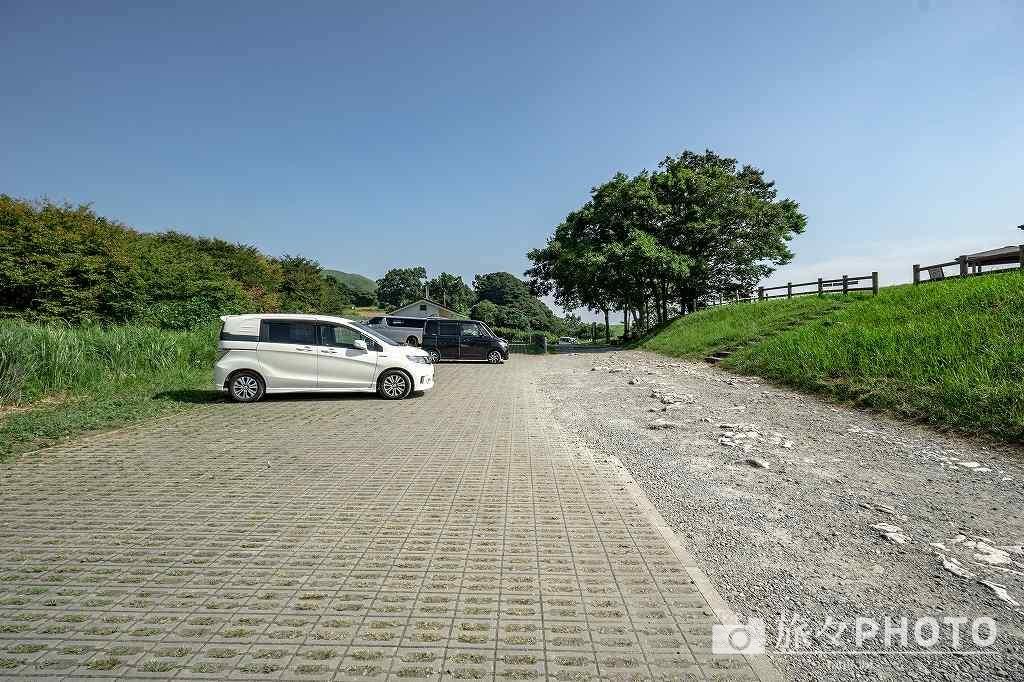 茶ヶ床園地の駐車場