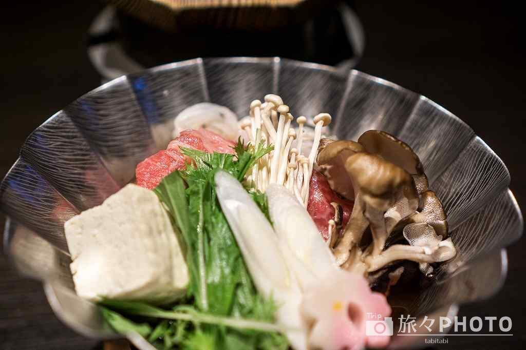 ホテルパーレンス小野屋 夕食 すき焼き