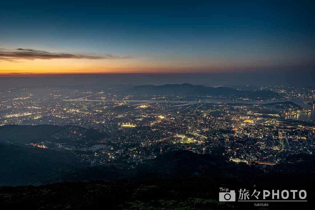 皿倉山からの夕焼け