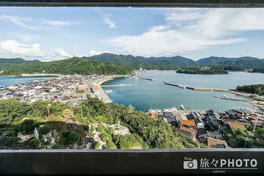 萩観光ホテル窓からの景色