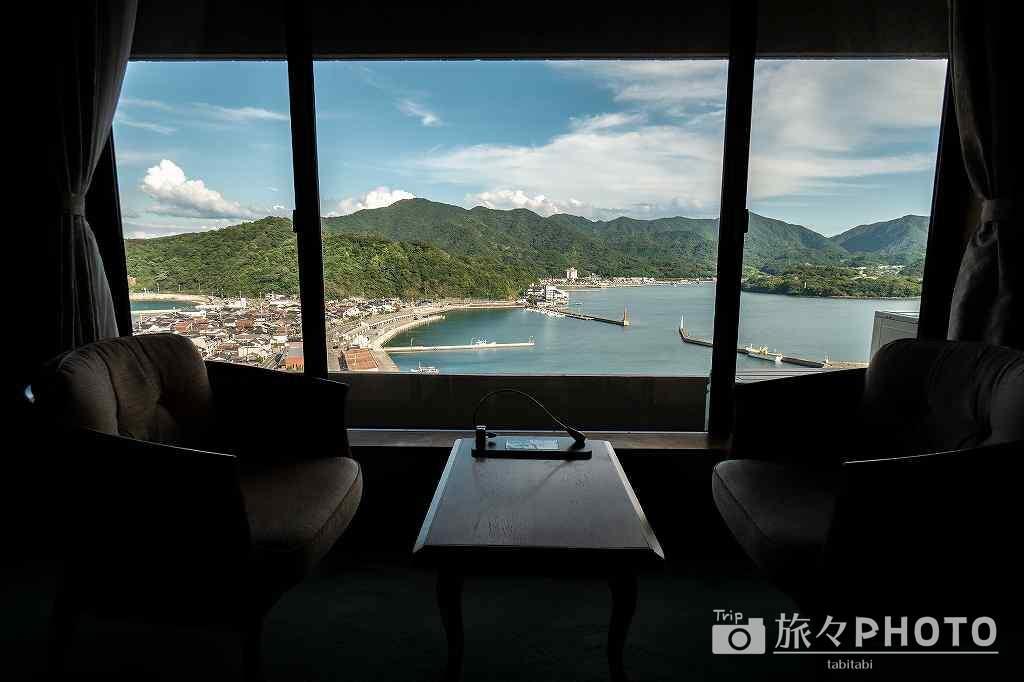 萩観光ホテル部屋からの眺め