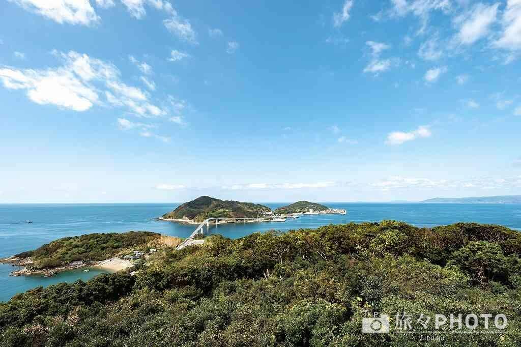 香焼総合公園展望台から見た伊王島
