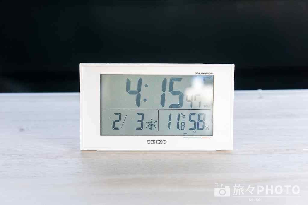 時計(温度計、湿度計付き)