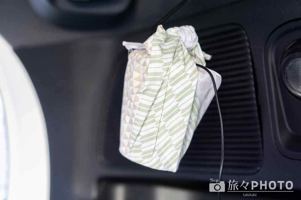 車中泊で使う自作したライト