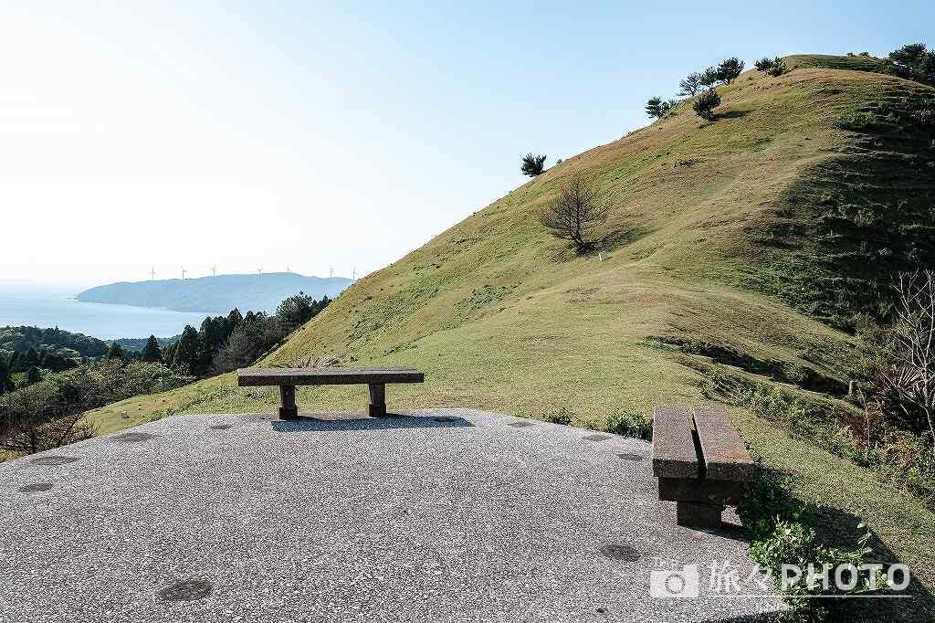 都井岬の扇山の展望台