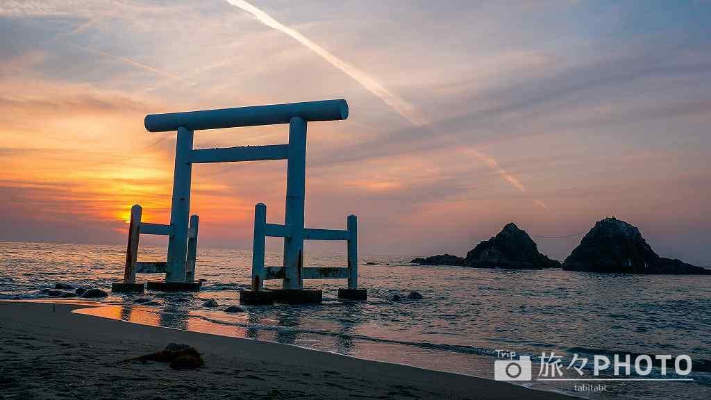 桜井二見ヶ浦の夕焼け