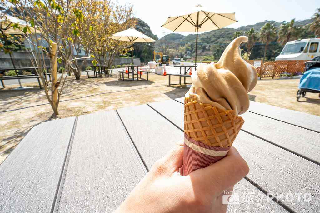 糸島ファームハウスUOVOのソフトクリーム