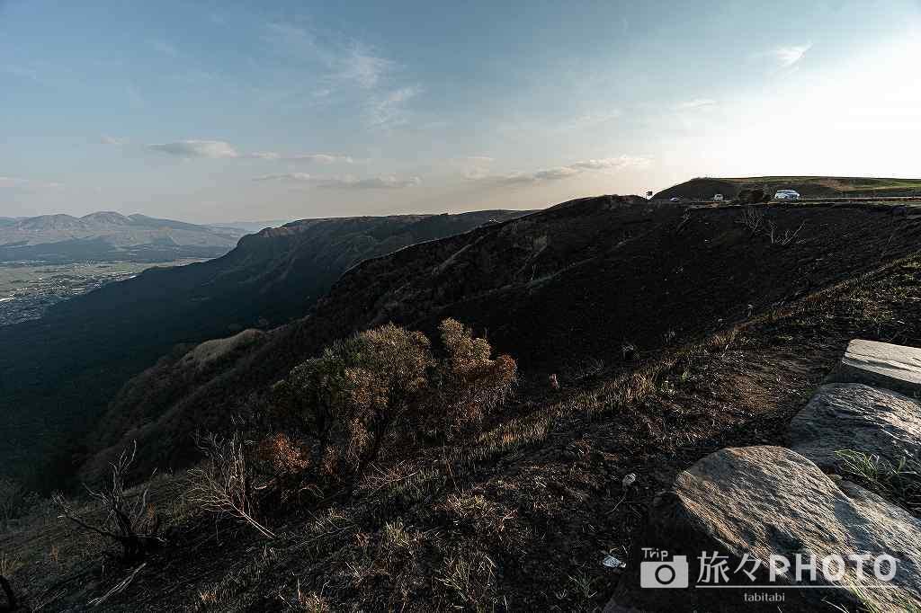 阿蘇スカイライン展望所から見た阿蘇山