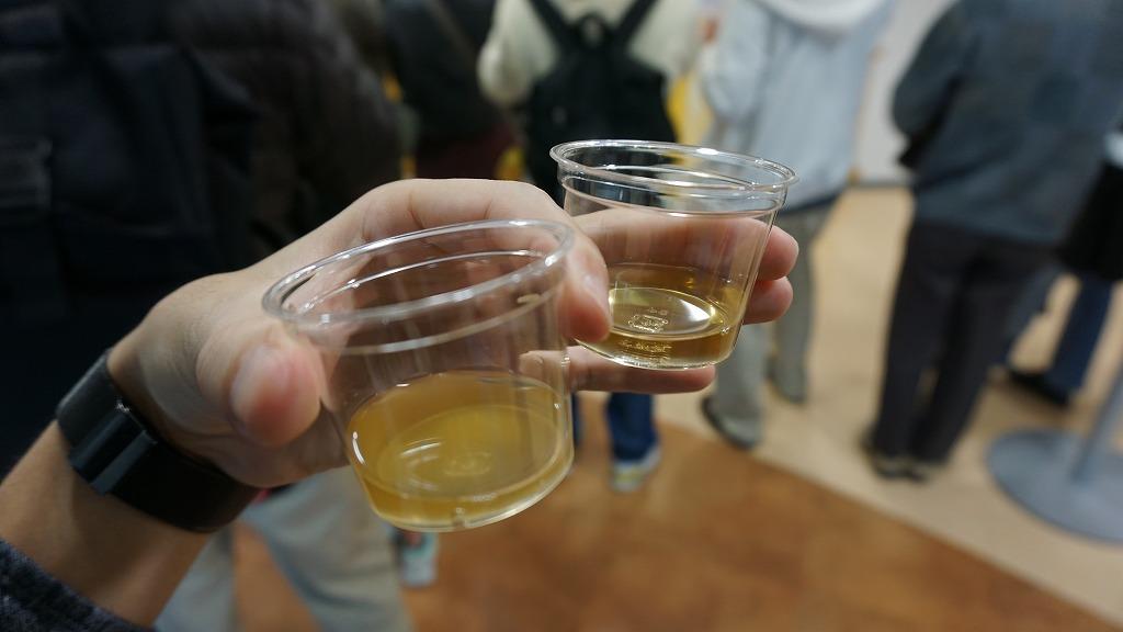 ▲キリンビール「一番搾り麦汁」と「二番搾り麦汁」の比較コーナー